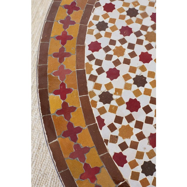 Spanish Dining Table With Moroccan Mosaic Tile Inlay For Sale In San Francisco - Image 6 of 13
