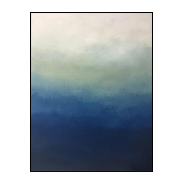 """Abstract Blue Ombré"" - Framed Print 30x40 For Sale"
