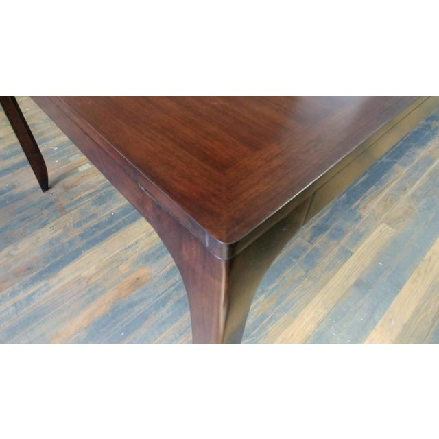 Henredon Henredon Furniture Barbara Barry Perfect Parsons Walnut Dining Table For Sale - Image 4 of 13