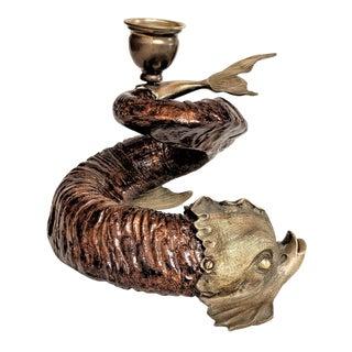 Vintage Rams Horn Candleholder For Sale
