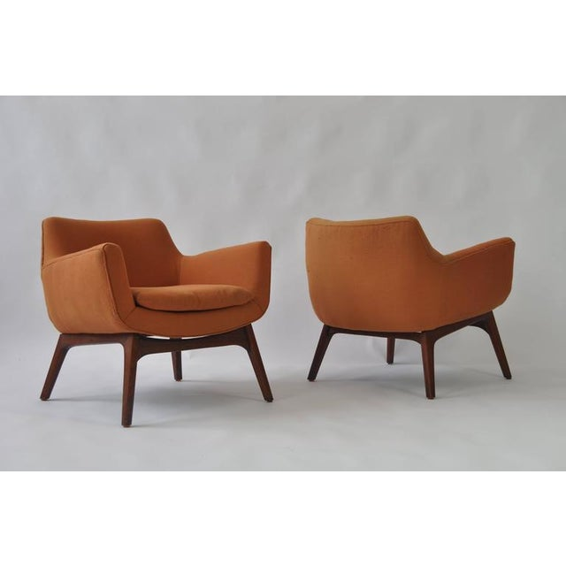 Contemporary Pair of Adrian Pearsall Lounge Chairs For Sale - Image 3 of 6