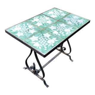 Vintage Hand Forged Wrought Iron Table For Sale