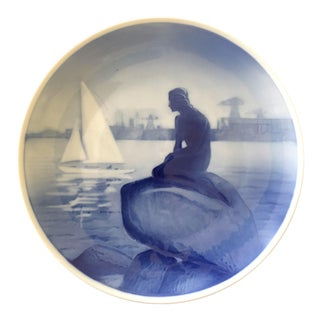 "Vintage Royal Copenhagen Little Mermaid 8"" Plate For Sale"