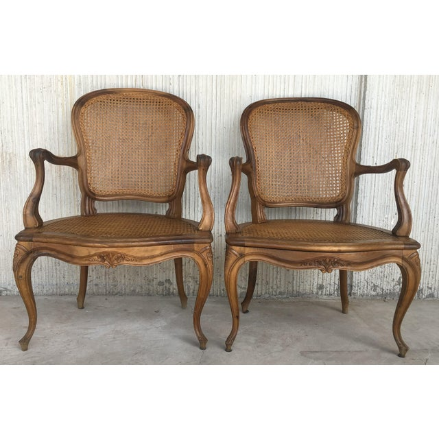 18th Louis XV Cane Back and Seat Fauteuil Armchair. For Sale - Image 12 of 13