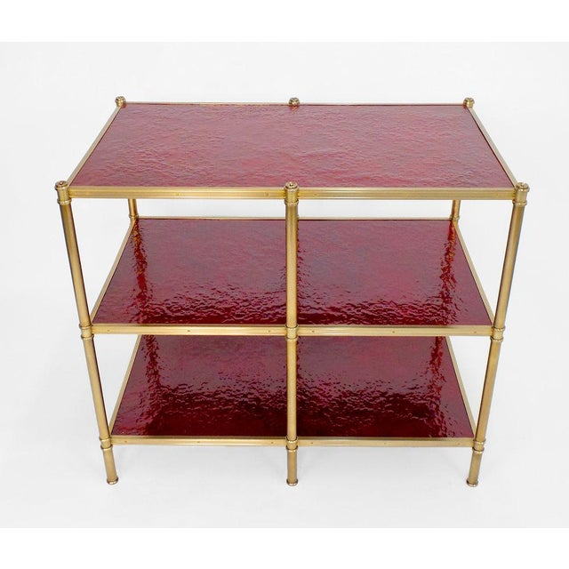 Modern Cole Porter Low Etagere Molten Gypsum Finish For Sale - Image 3 of 6