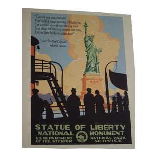 Vintage National Park Service Statue of Liberty Poster Print For Sale
