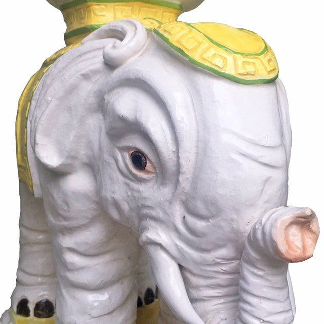 Vintage Italian Elephant Stand with Bowl Top - Image 4 of 5