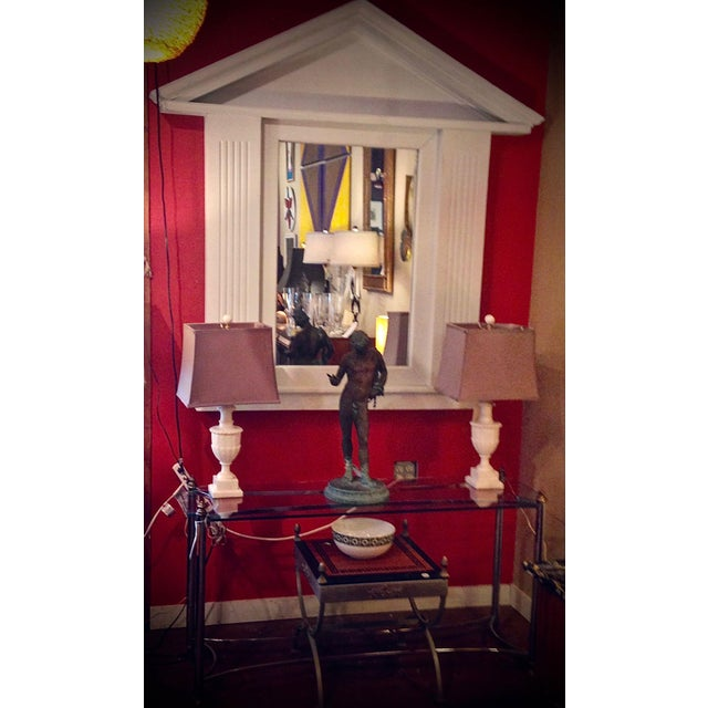 Large Palladian Style Architectural Mirror For Sale - Image 9 of 13