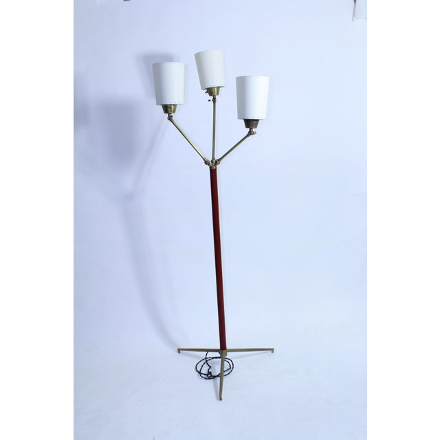 Gold Jacques Adnet Multi Shade Floor Lamp For Sale - Image 8 of 8