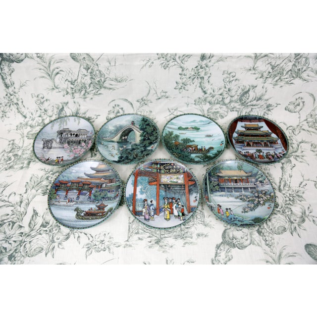 """Seven mint condition plates from the series """"Scenes From The Summer Palace."""" This series was manufactured 1988-1990. All..."""