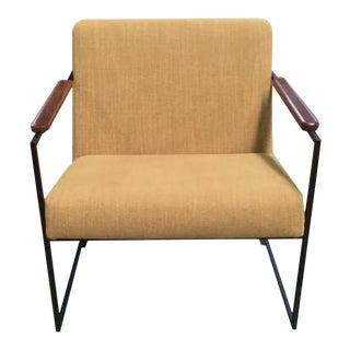 Modern Arch Mustard Armchair For Sale