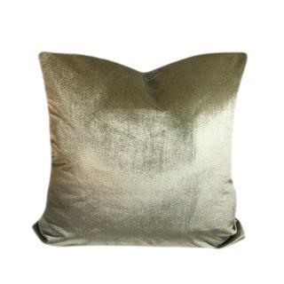 Chianti Oliveto Italian Silk Velvet Pillow For Sale