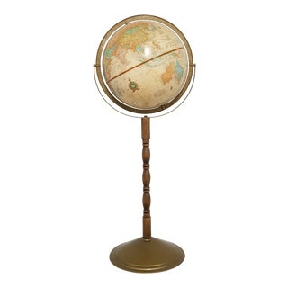 Vintage Late 20th Century Cram's Imperial World Floor Globe For Sale