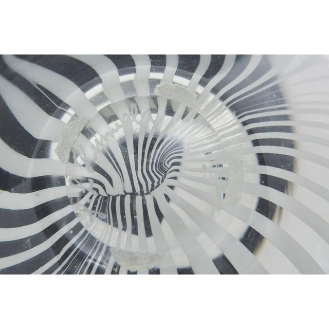 Sculptural Optical Swirled Glass Bowl For Sale In Miami - Image 6 of 10