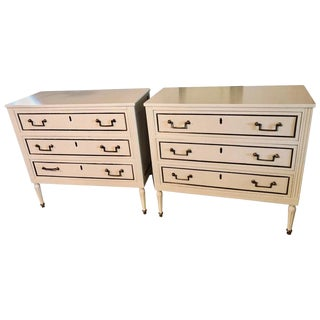 Pair of Stamped Jansen Commodes or Nightstands Chests in Louis XVI Style For Sale