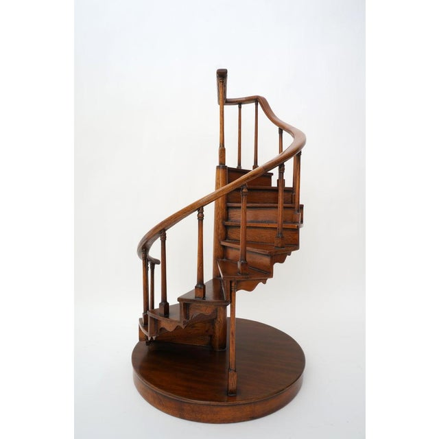 Vintage Spiral Staircase Architectural Model in Mahogany For Sale - Image 11 of 12