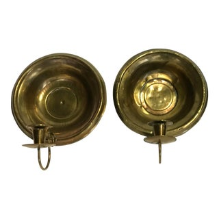 Pair of Vintage Brass Sconces For Sale