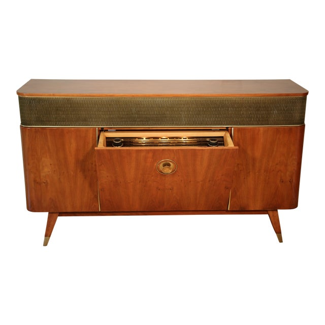 1956 Mid Century Grundig 9065 Stereo Console For Sale
