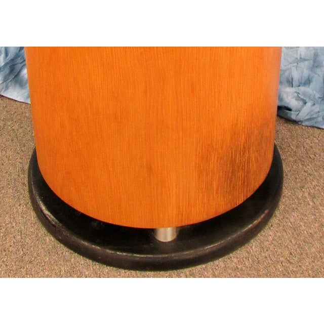1980s Abstract Art Untitled Pedestal or Accent Table For Sale - Image 11 of 13