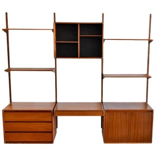 1970s Barzilay Walnut Three-Section Wall Unit
