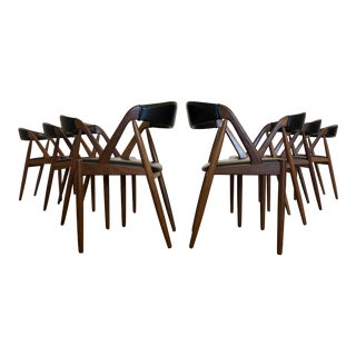 Kai Kristiansen Model 31 Teak Dining Chairs - Set of 8 For Sale