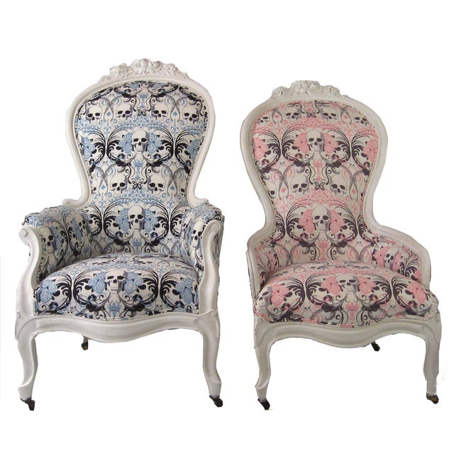 King & Queen Victorian Skull Chairs - A Pair - Image 1 ... - King & Queen Victorian Skull Chairs - A Pair Chairish