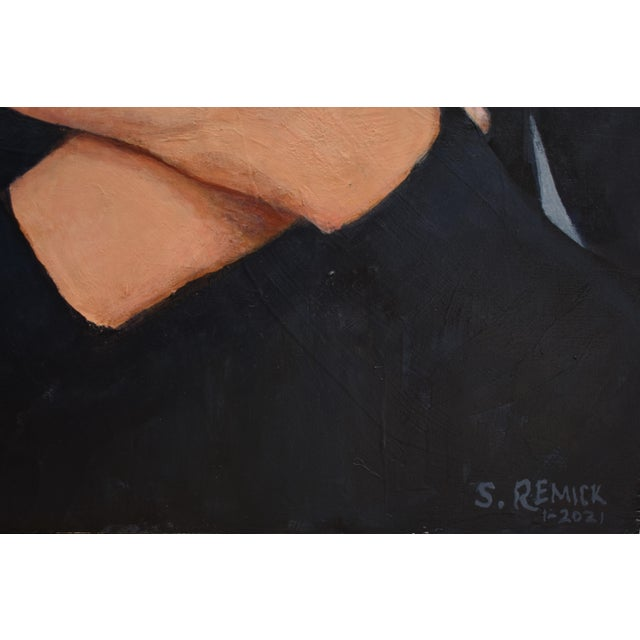 """Figurative """"Empathy"""" Contemporary Portrait Painting by Stephen Remick, Framed For Sale - Image 3 of 9"""