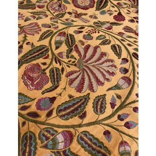 Vintage Bergamo Colibri Fabric - 1 3/4 Yards For Sale