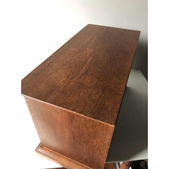 Mid Century Wooden Jewelry Box For Sale - Image 10 of 11