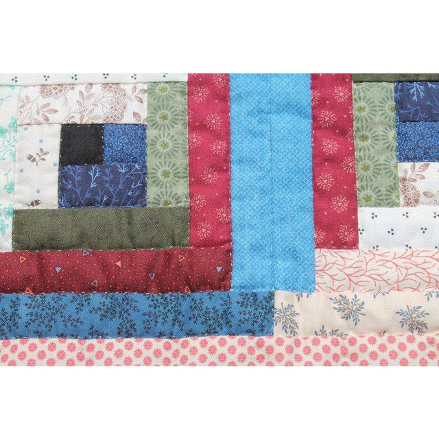Rustic Log Cabin Crib Quilt From Pennsylvania For Sale - Image 3 of 9