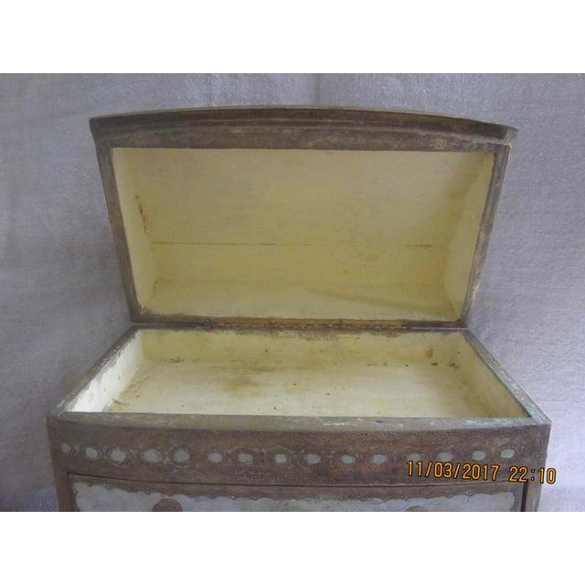 Italian Vintage Florentine Miniature Storage Chest For Sale - Image 3 of 9