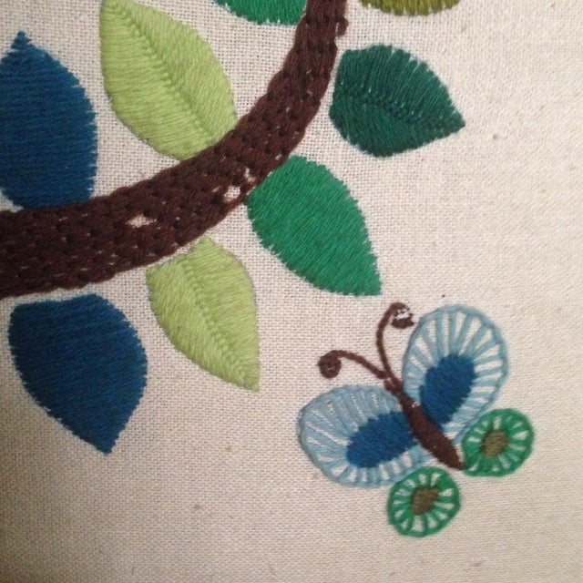 Vintage Tree of Life Textile Wall Art - Image 8 of 11