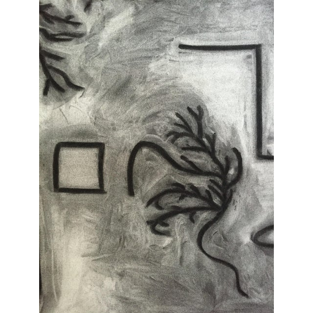 1978 Charcoal Abstract Drawing Bay Area Artist Signed For Sale - Image 4 of 7