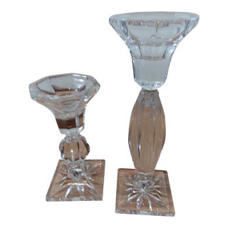 Royal Limited Crystal Candlestick Holders - A Pair