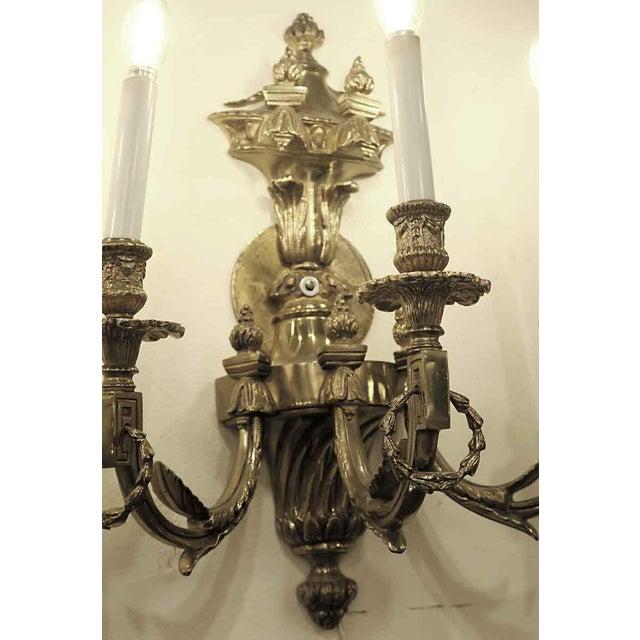 Vintage Waldorf Astoria Heavy Bronze Sconce For Sale - Image 6 of 10