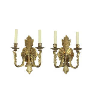 1960s Hollywood Regency Brass Sconces - a Pair For Sale