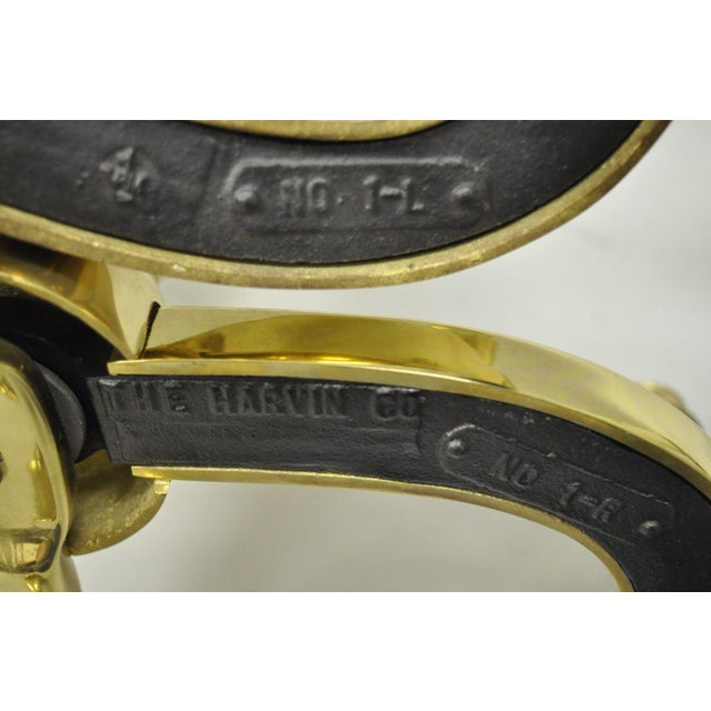 Williamsburg Style Branch Foot Ball & Claw Andirons - A Pair For Sale - Image 9 of 13