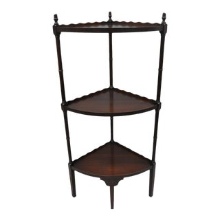 Vintage Georgian Style Mahogany Bamboo Corner Stand For Sale