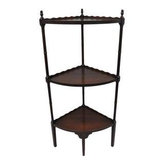 Vintage Georgian Style Mahogany Bamboo Corner Stand