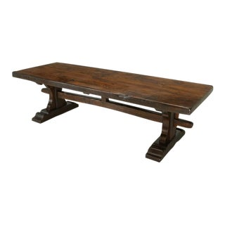 Antique French Oak Trestle Dining Table Circa 1800's For Sale
