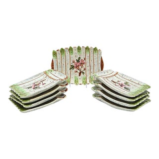 French Vallauris Asparagus Set - 9 Pieces