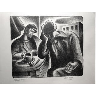 "Nils Gren 1936 ""Silent Men"" Wpa Lithograph For Sale"