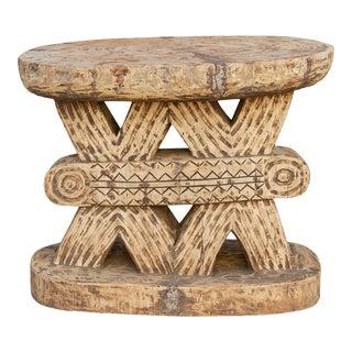 Rare Oversize Oxidize Wood Ashanti Table For Sale