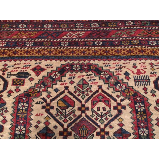A very good example of Caucasian weaving from the Shirvan region. Though these ivory ground prayer rugs may seem alike...