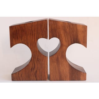 Heart to Heart Wood Candlesticks - a Pair Preview