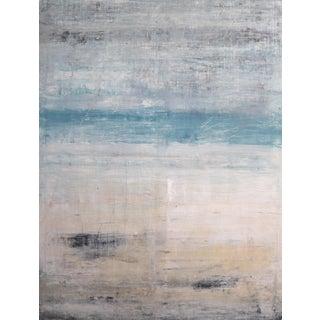 """1279 Hawaii - Hapuna Beach"" Abstract Seascape Acrylic Painting, 21st Century For Sale"