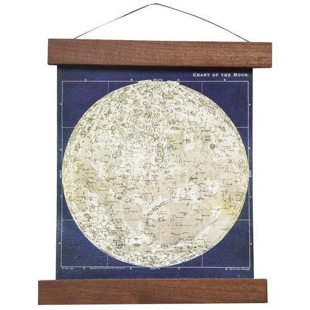 Antique Moon Chart Pull Down Revival Print - Image 1 of 5