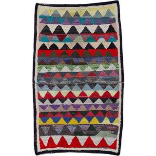"Vintage Persian Flatweave Kilim Rug – Size: 5' 3"" X 8' 5"" For Sale"