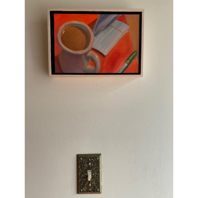 A love letter? The one you didn't send. Folded. Contemplated. and then shoved away. Here is the painting of it. With...
