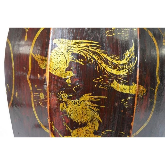 Hand-Painted Grain Storage Barrel With Medallions From, China, 19th Century For Sale - Image 10 of 11